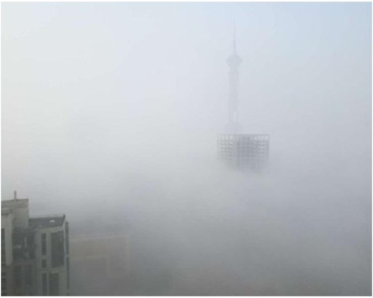 河北今早大部地區出現大霧天氣。