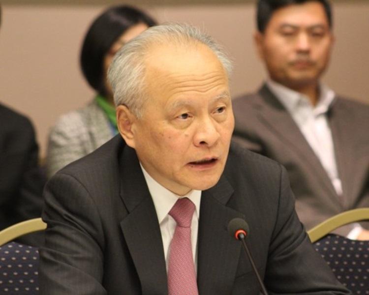 中國駐美大使崔天凱。網圖