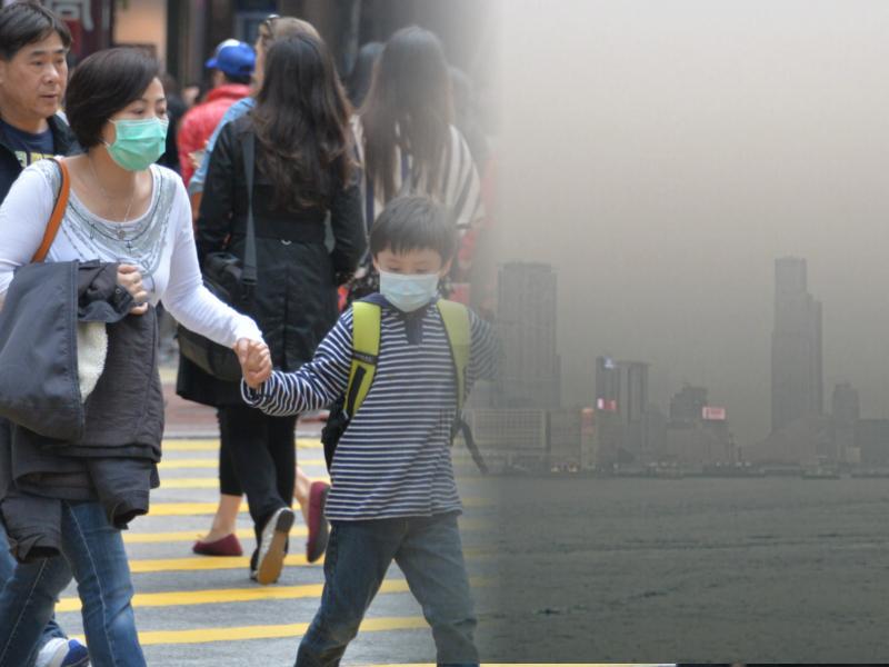本港空氣污染嚴重。資料圖片/天文台圖片