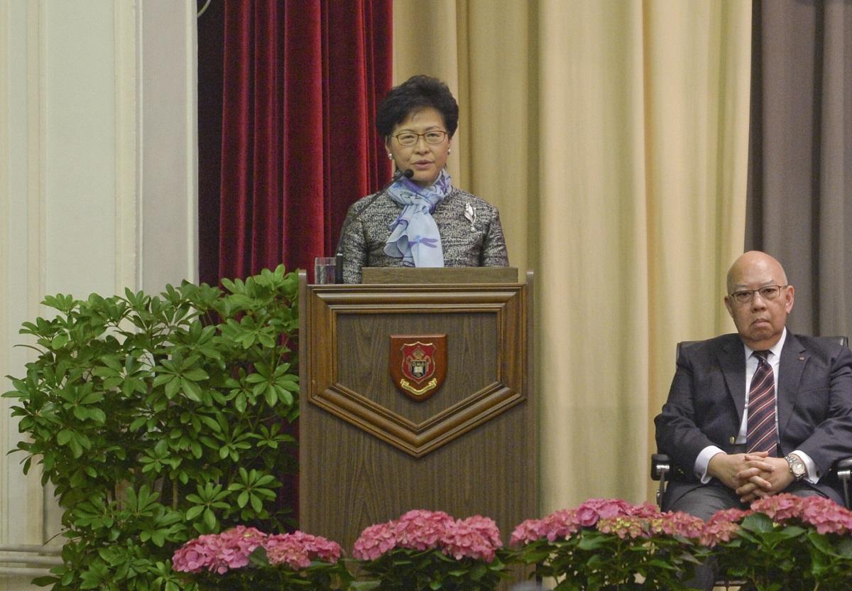 林鄭月娥強調教育是政府的施政重點。