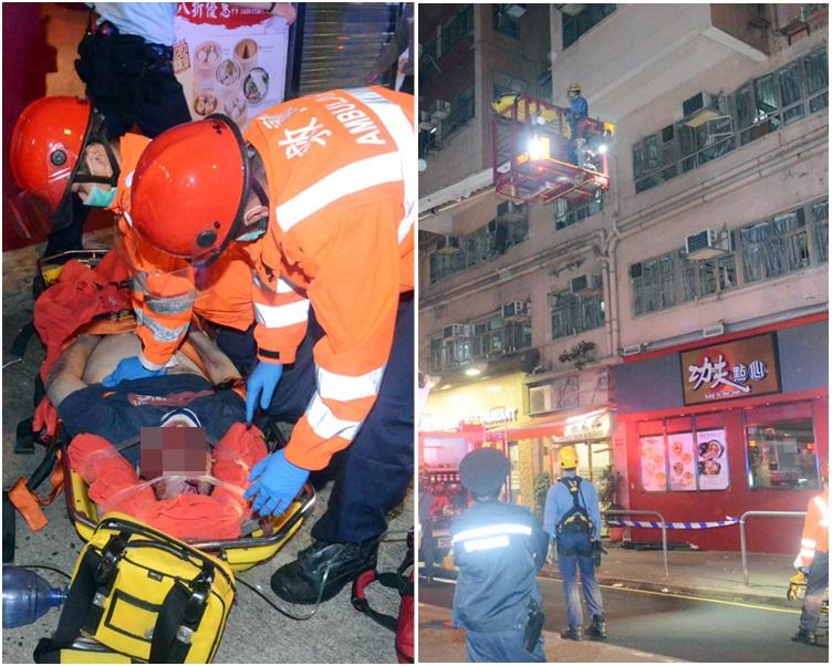 消防駕起升降台救下事主。