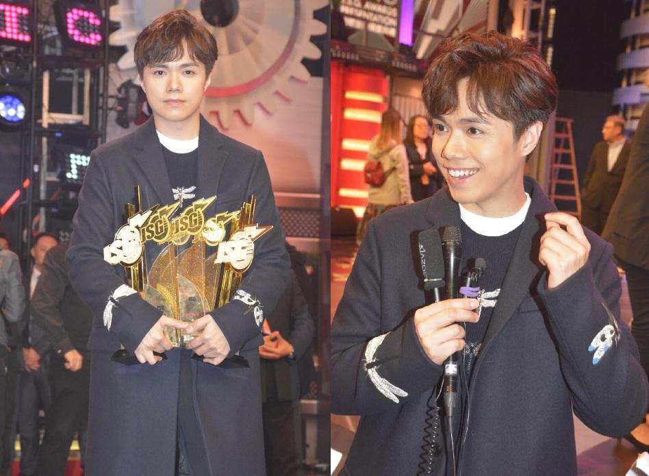 張敬軒奪「勁歌金曲金獎」及「最受歡迎男歌星」等多項大獎。