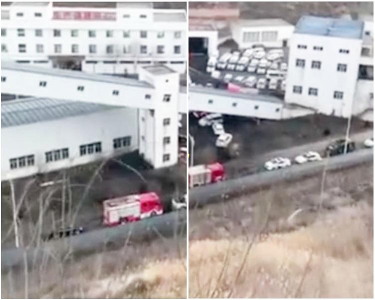 陜西省神木市百吉礦業李家溝煤礦井下發生事故。網圖