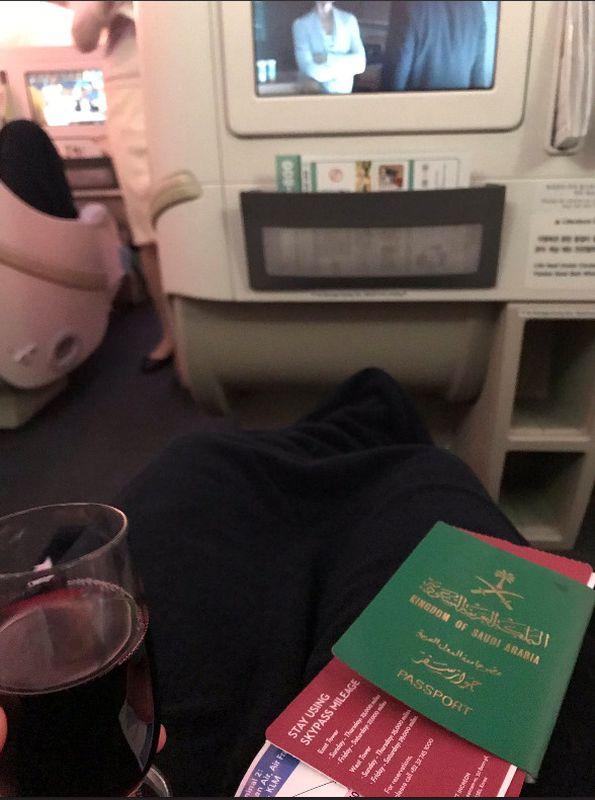 奎農在 Twitter 上載機艙照片留言道:「我做到了。」圖Twitter