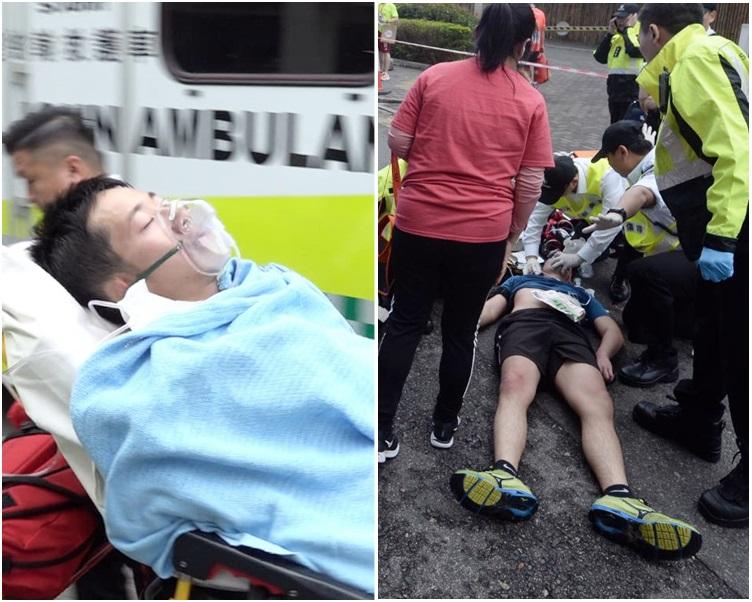 左為23歲半昏迷跑手;右為擦傷膝蓋,之後昏迷且一度心跳停頓的28歲跑手。