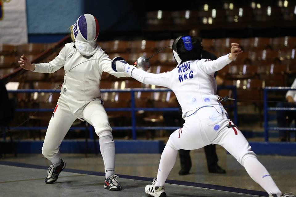 江旻憓在世界盃古巴站女子重劍項目歷史性奪金。FIE fb相片