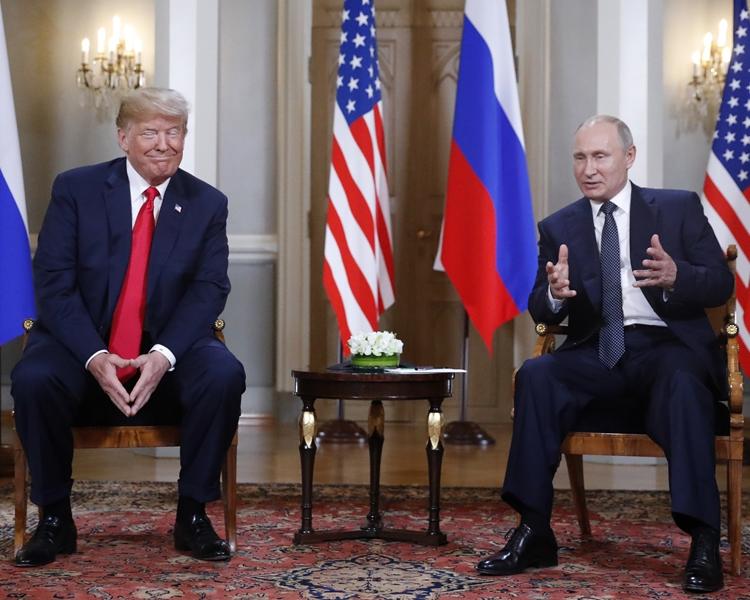 《華郵》揭特朗普與普京過去兩年先後5次會面。AP