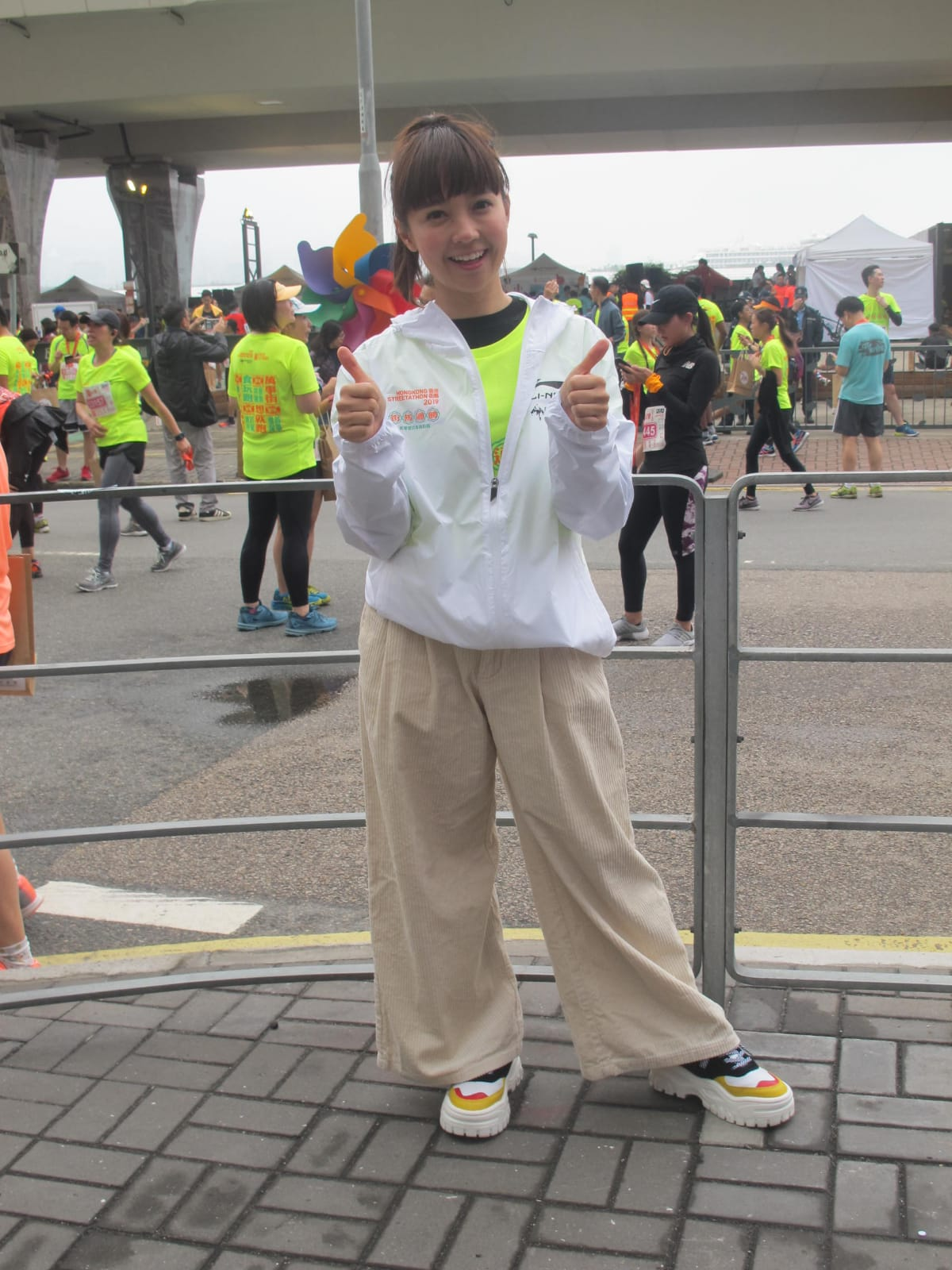 糖妹出席「香港街馬2019」活動。