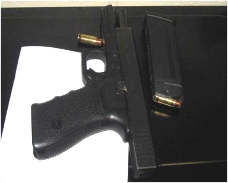 哥伦布市警方公开一幅照片展示那枝手枪及一些子弹。Twitter