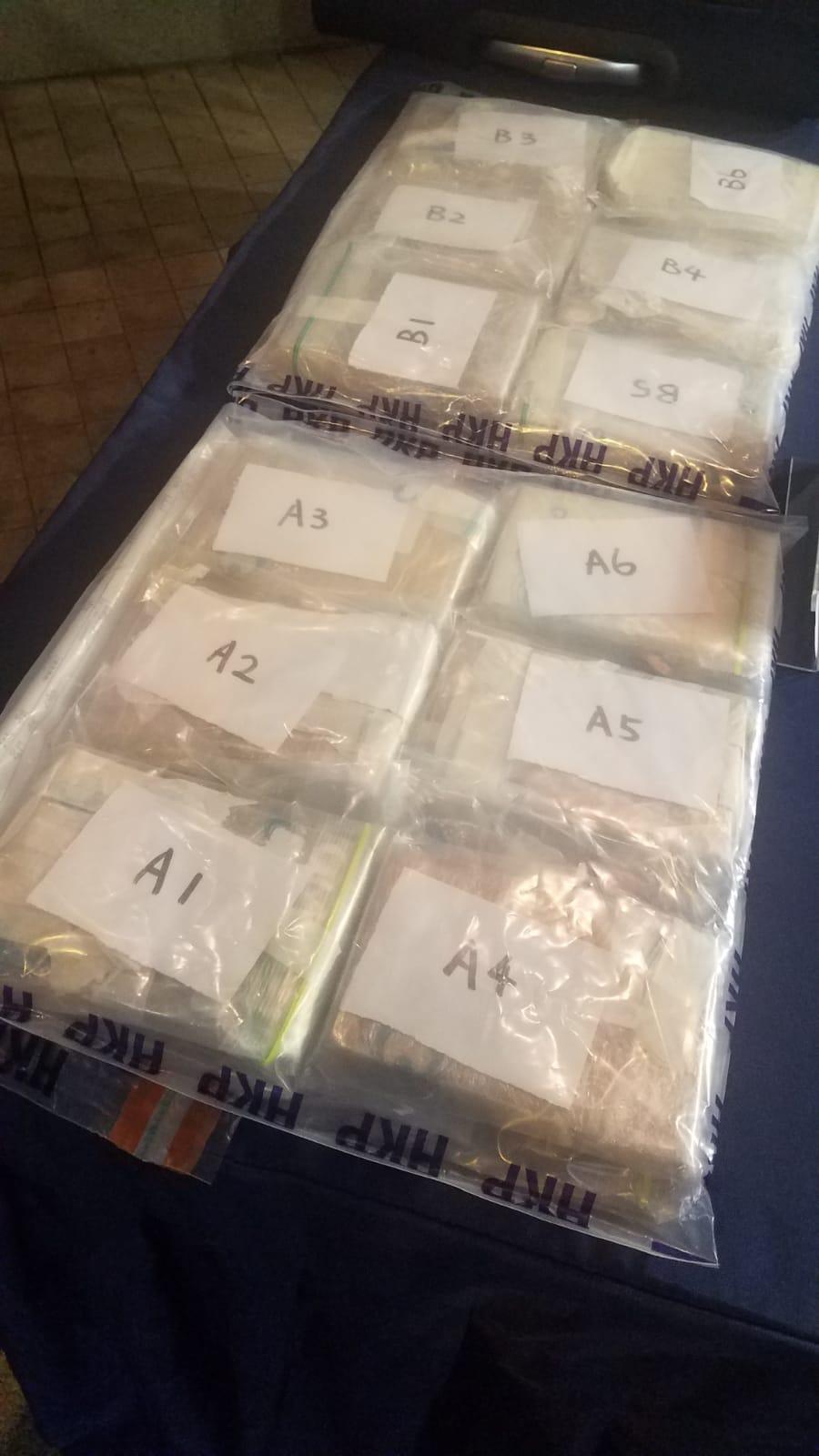 警方搜出360萬元毒品。