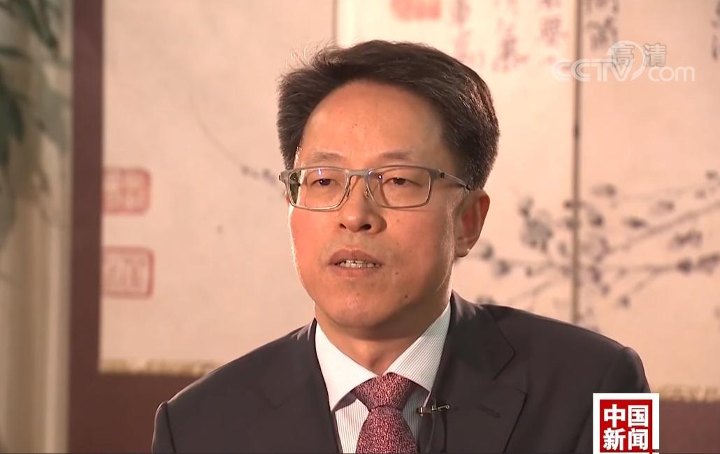 國務院港澳辦主任張曉明接受專訪。央視圖片