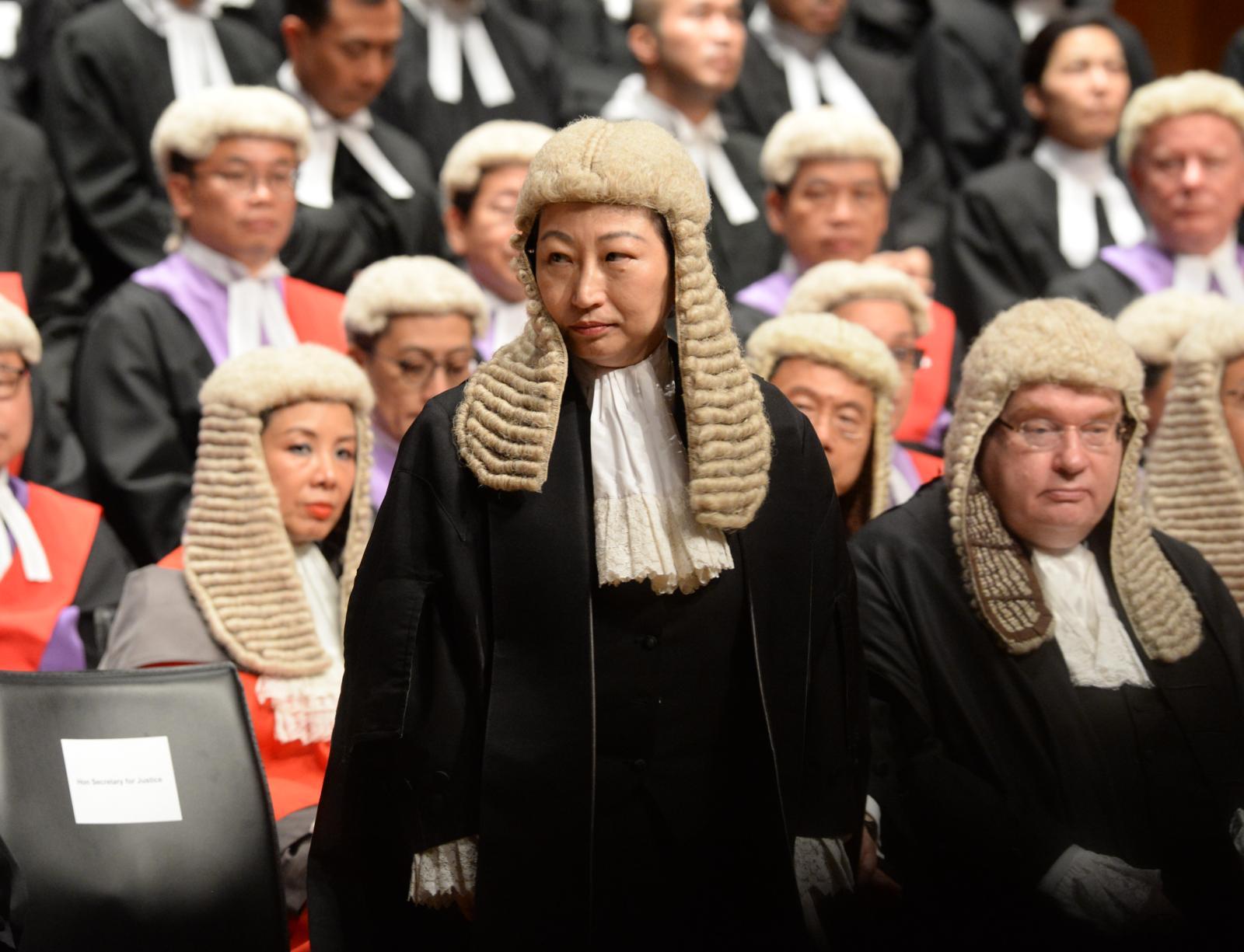 律政司司長鄭若驊在法律年度開啓典禮上致辭