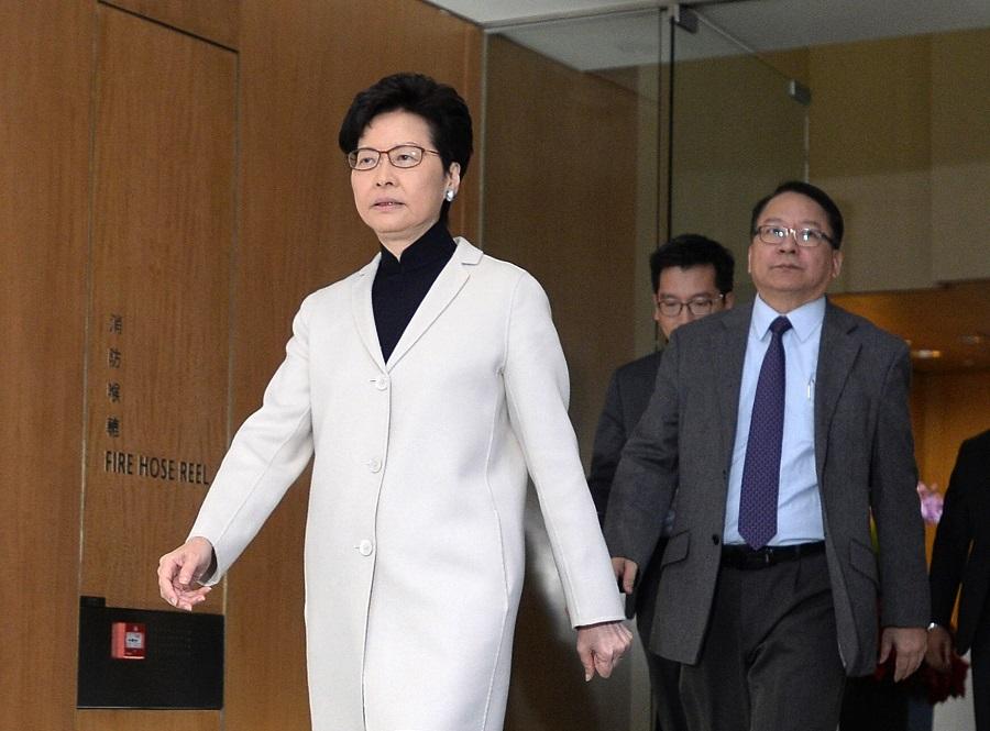 林鄭月娥(左)及陳國基(右)明日前往廣州。資料圖片
