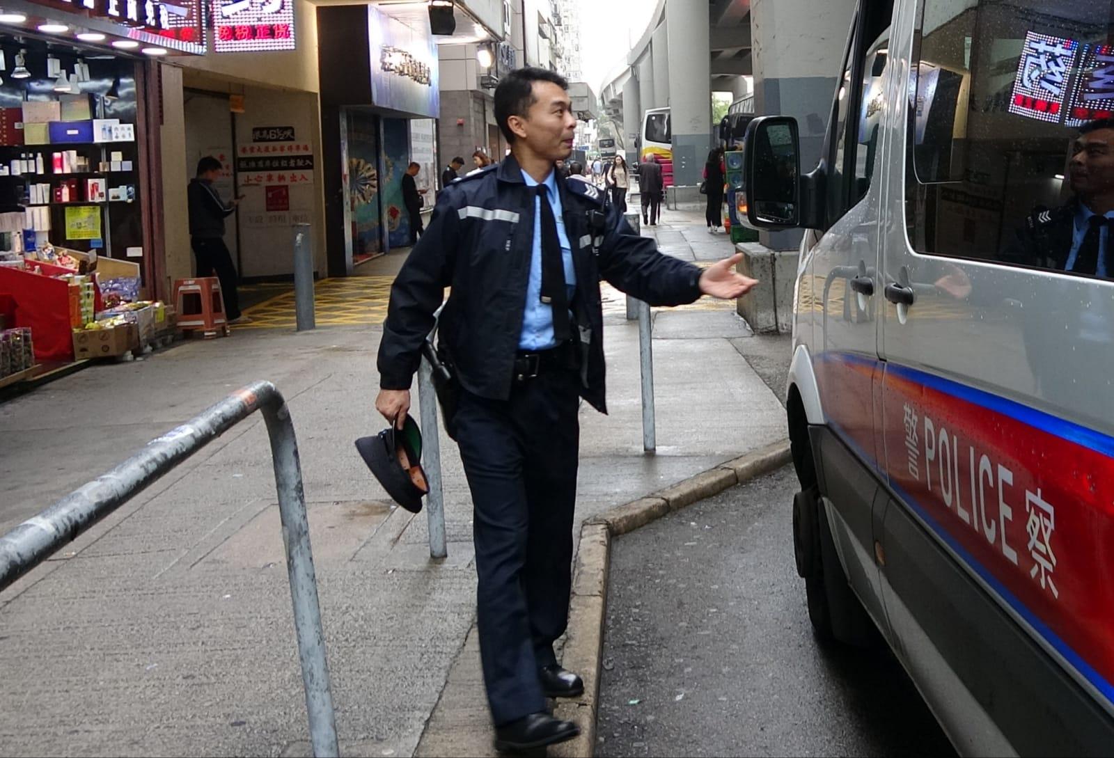 警方到場調查事件。 林思明攝