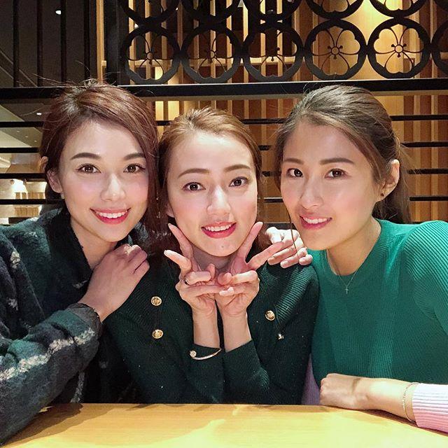 三個好姊妹感情好。楊秀惠ig圖片。