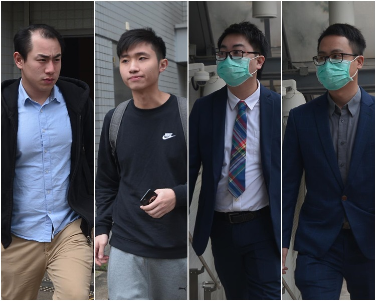 由左至右:黃俊偉、張昀浩、陳世傑及陳志才。