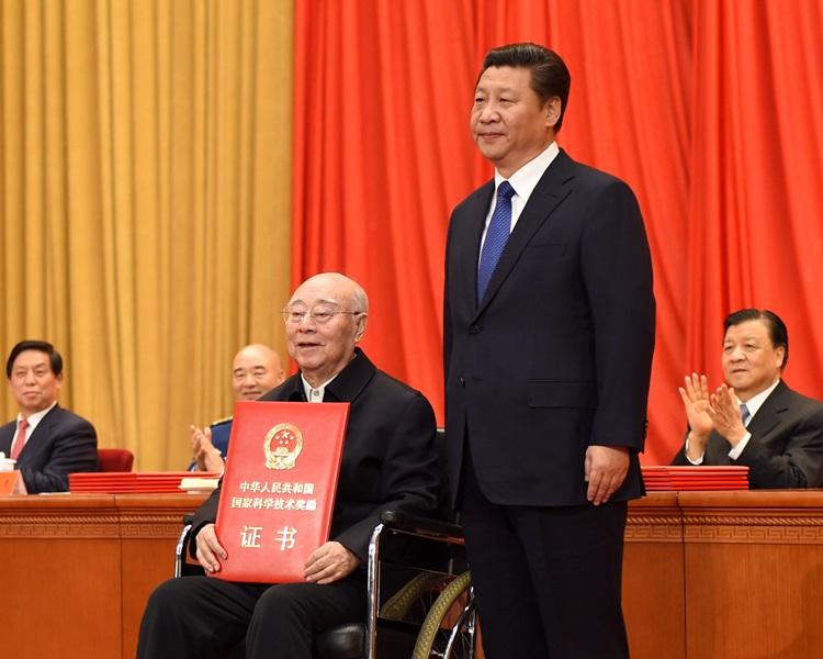 于敏获国家主席习近平颁发2014年度国家最高科学技术奖。北京应用物理与计算数学研究所