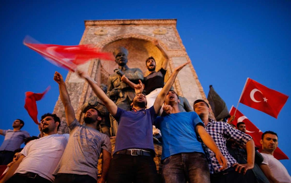 2016年土耳其發生流產政變。AP圖片