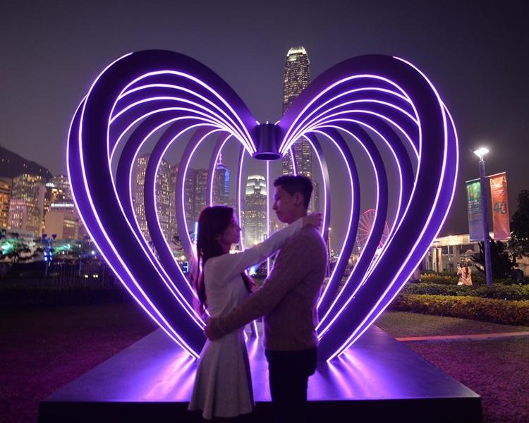 元宵节、情人节必定要来中环海滨「打卡」。