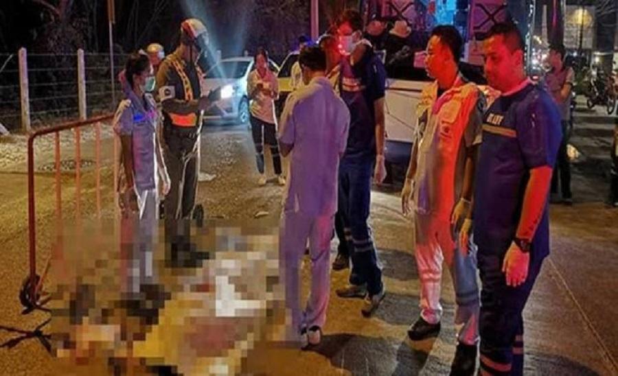 芭堤雅旅游巴撞死中国游客。网上图片