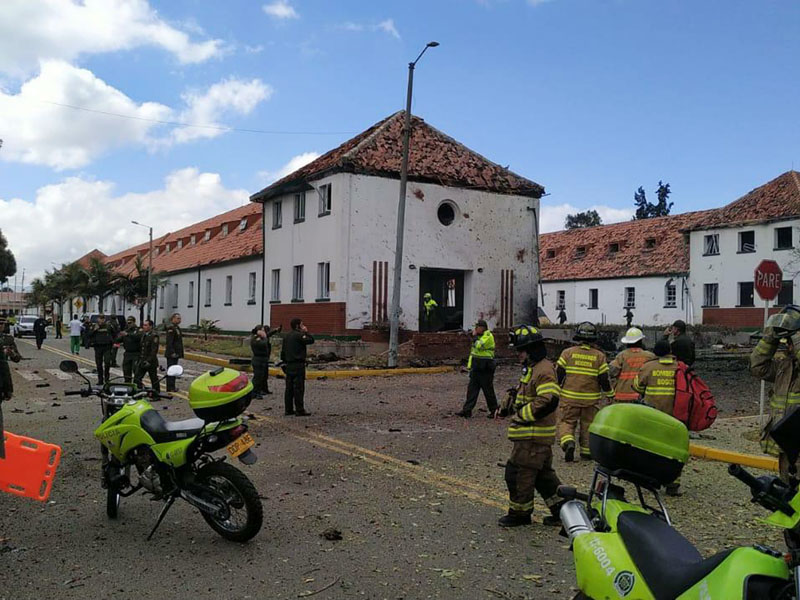 哥伦比亚首都波哥大一间警察学校遭汽车炸弹袭击,造成最少10人死亡。