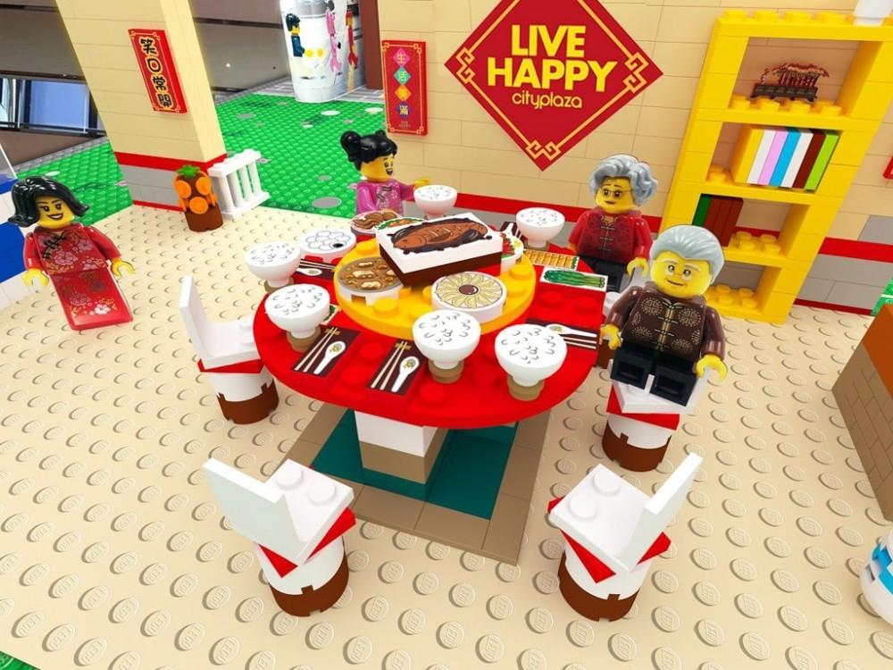 大家可以與LEGO人仔一起吃團年飯。