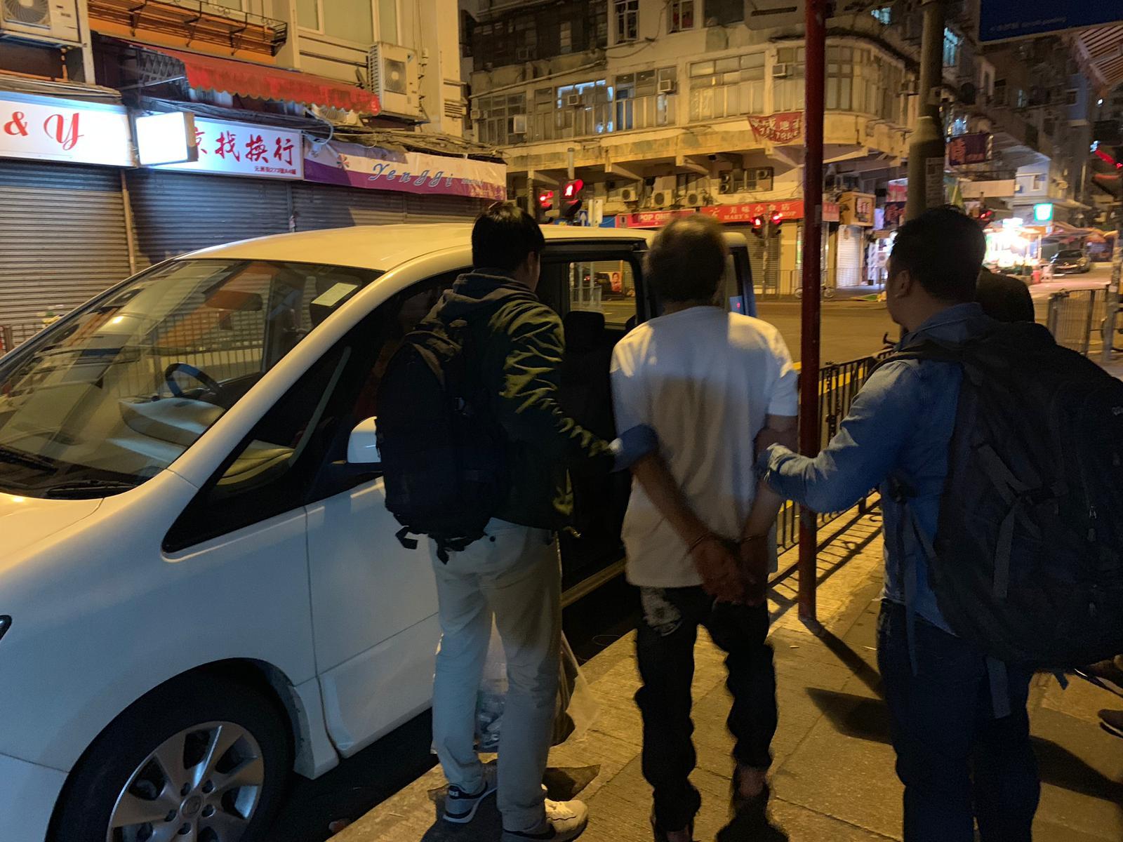 行動中被捕人士。警方圖片