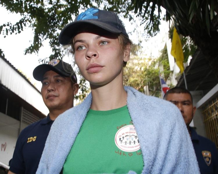 自称掌握特朗普「通俄门」证据的女模瓦什克维琪(Anastasia Vashukevich)。