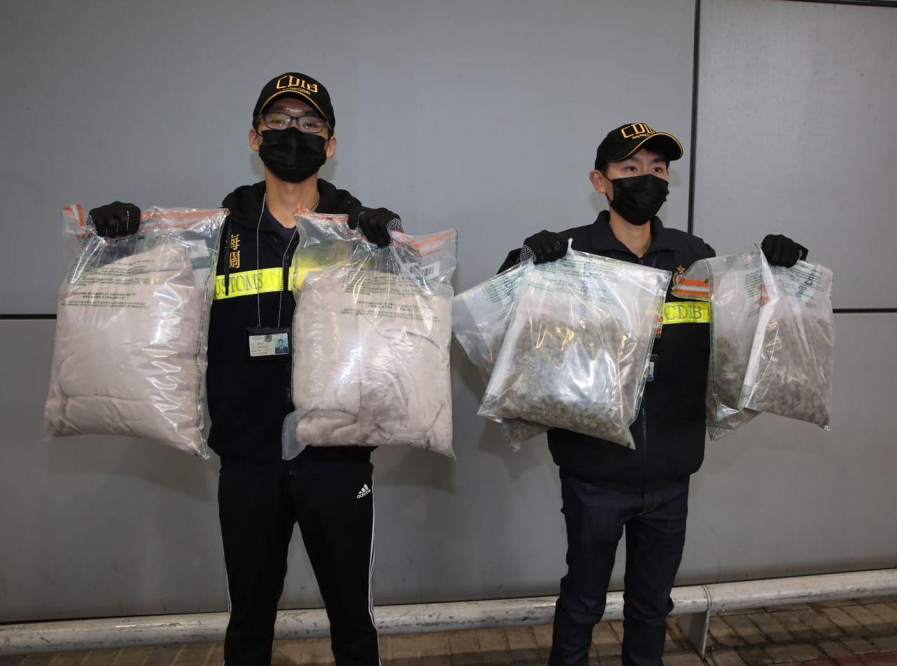 海關檢獲共約2公斤懷疑大麻花,估計市值約41萬元。