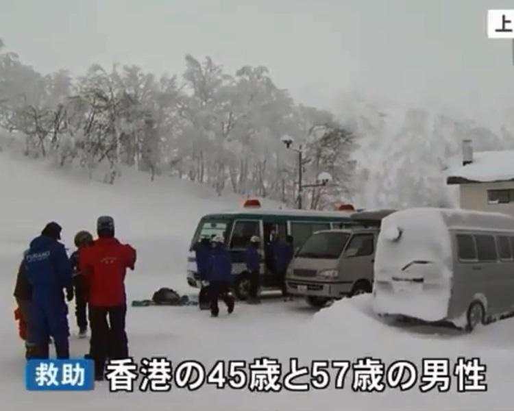救援人員通宵搜索。北海道ニュースUHB截圖
