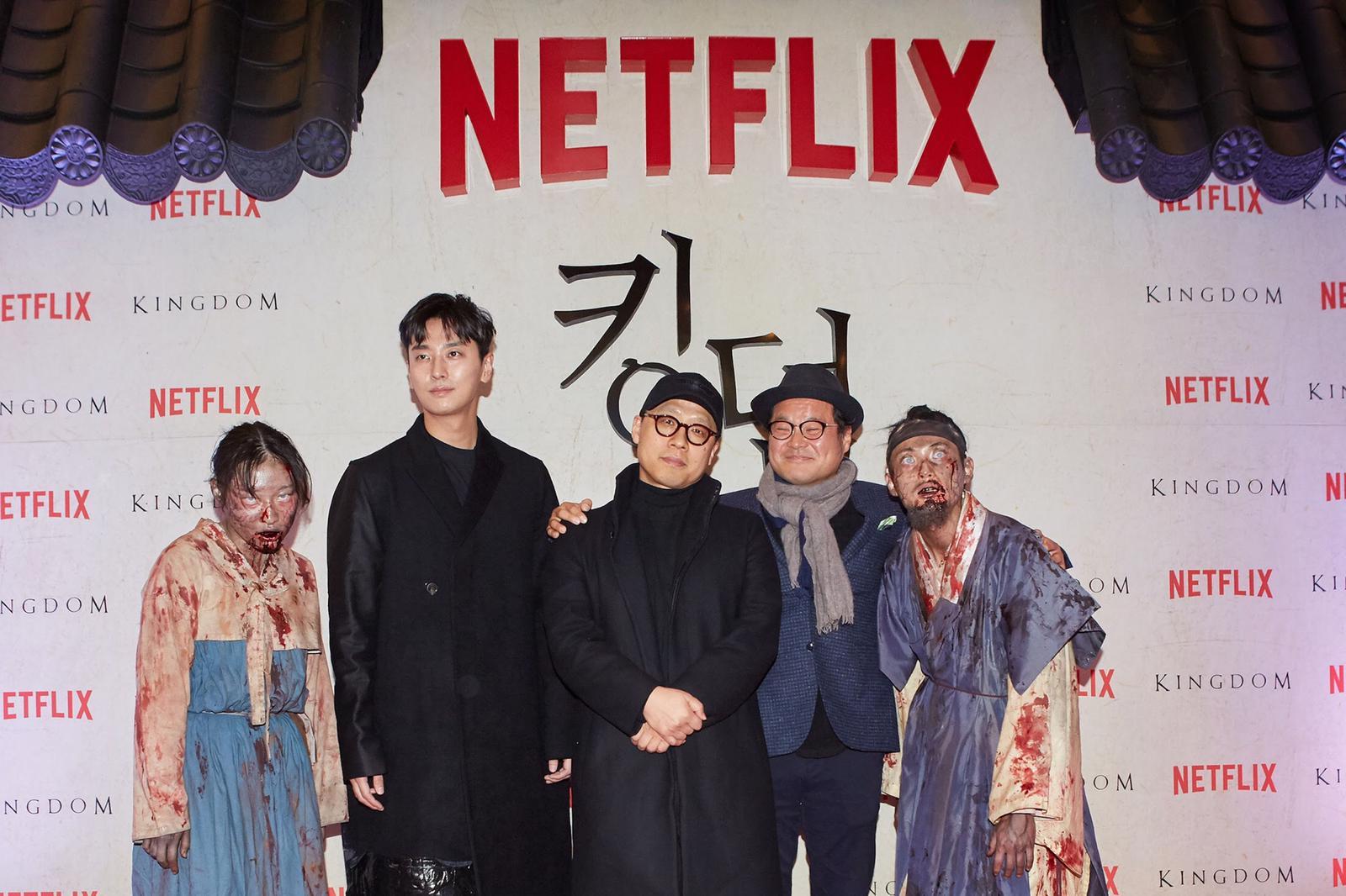 Netflix原創韓劇《李屍朝鮮》在首爾蠶室舉行首映禮。