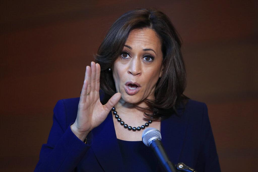 美國民主黨黑人女參議員賀錦麗。AP