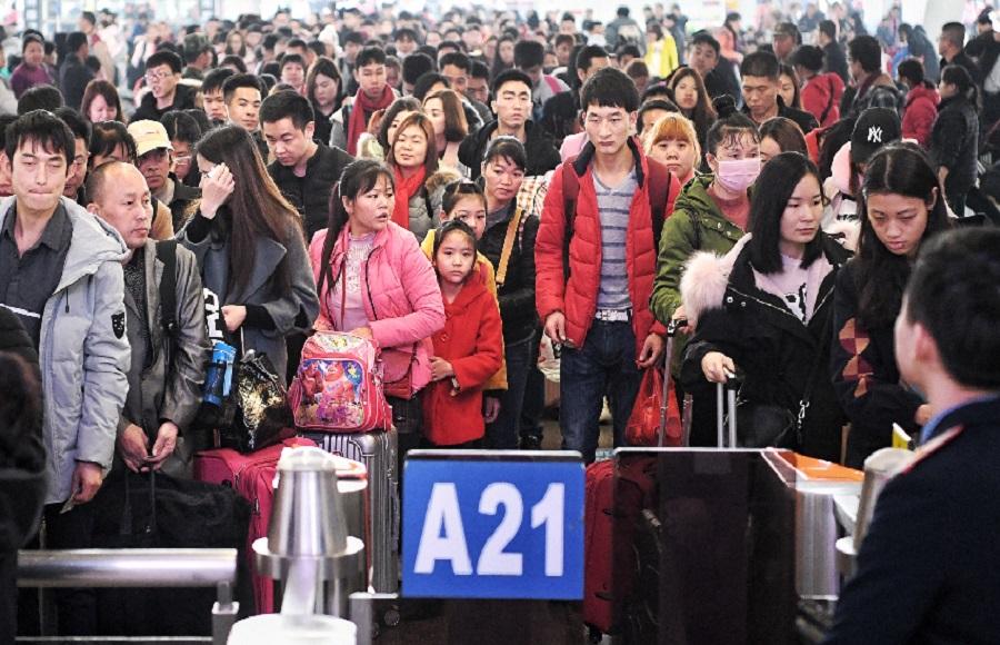 广州南站春运客量预计超过2000万人次。网上图片