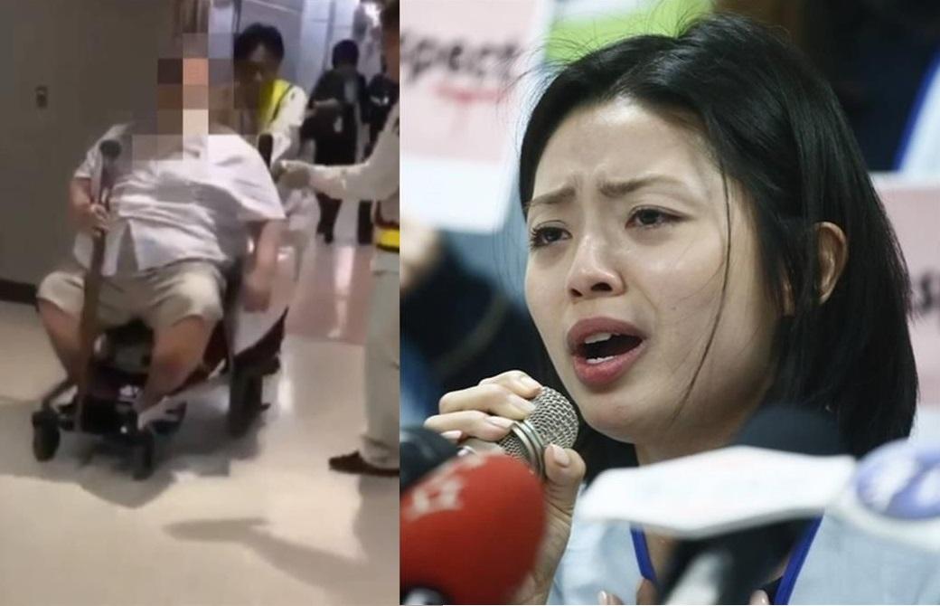 台湾长荣航空空姐被要求为外籍男乘客擦屎。网上图片