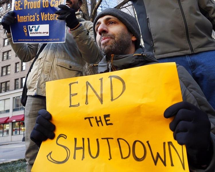 政府停擺引起民眾不滿。AP