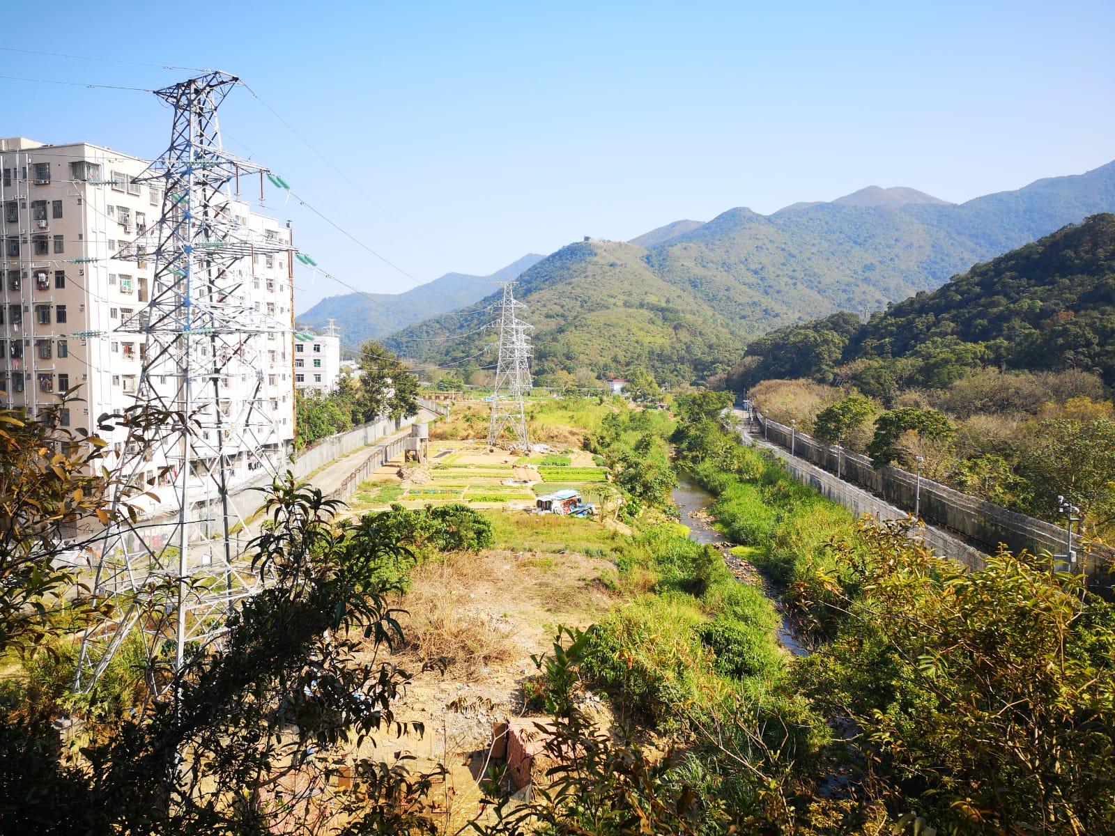 右邊: 蓮麻坑村