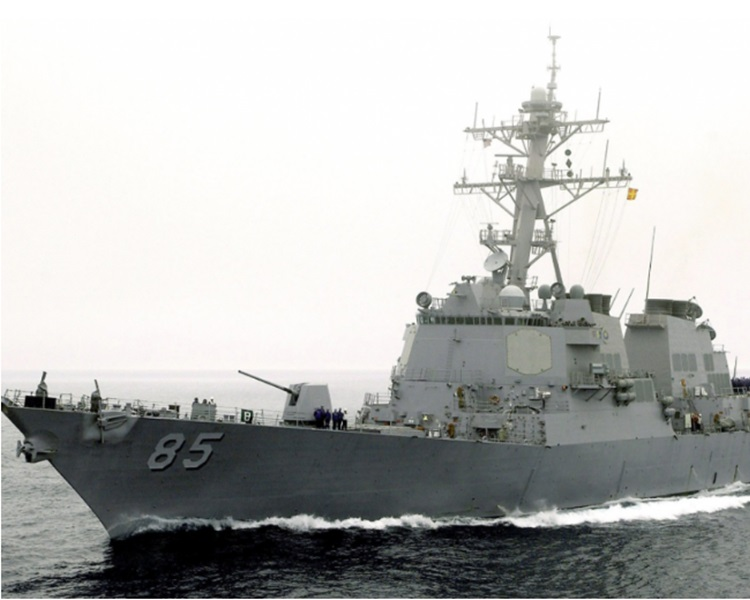 美國海軍神盾驅逐艦麥坎貝爾號。網圖