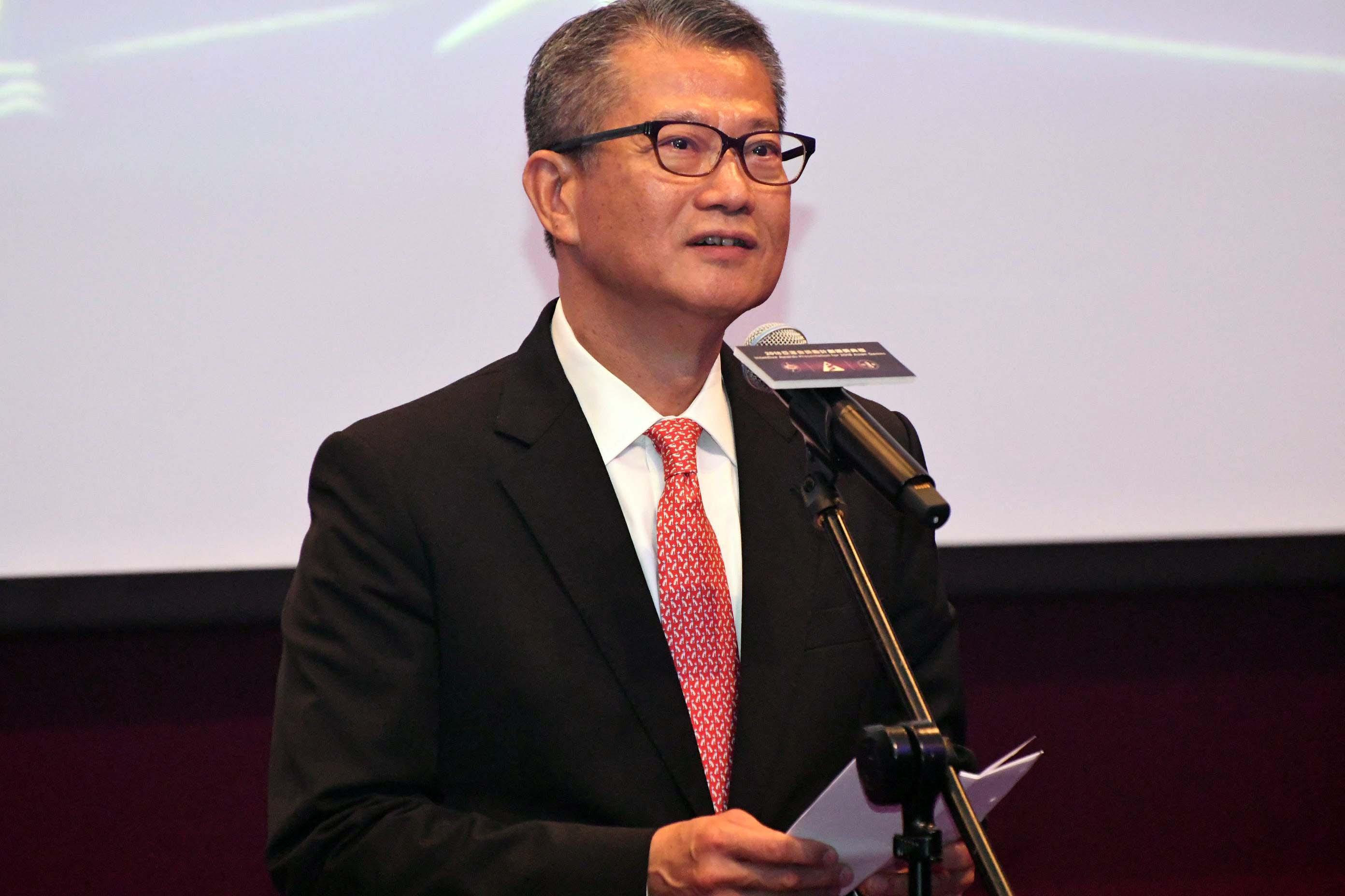 陳茂波將於星期六早上返抵本港。資料圖片