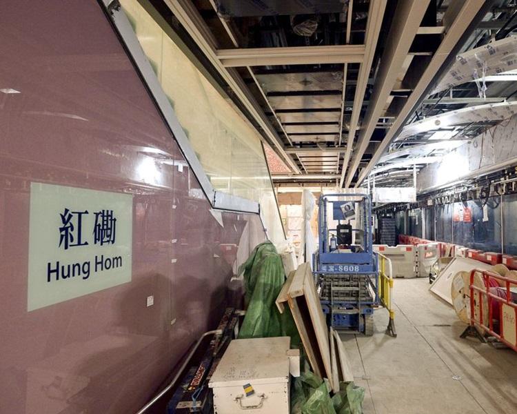 紅磡站擴建工程再發現1支鋼筋不達標。資料圖片