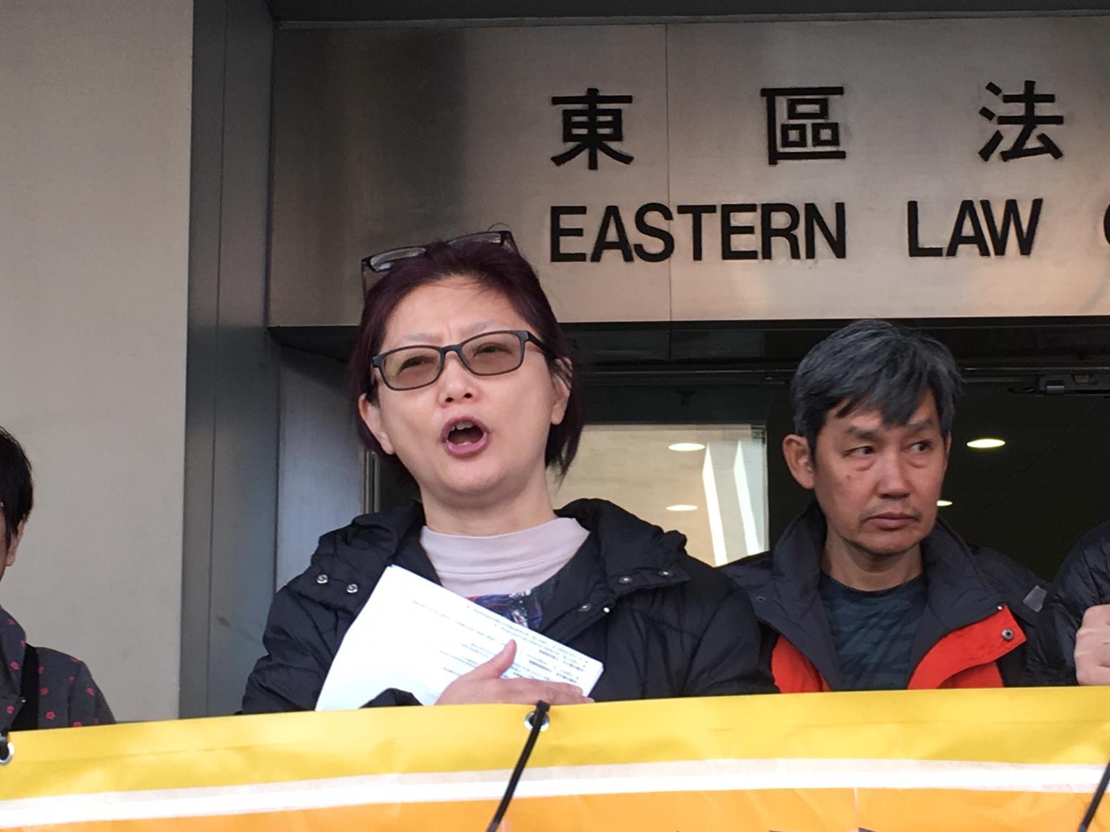 鳩嗚團成員錢寶芬案件3月再訊。