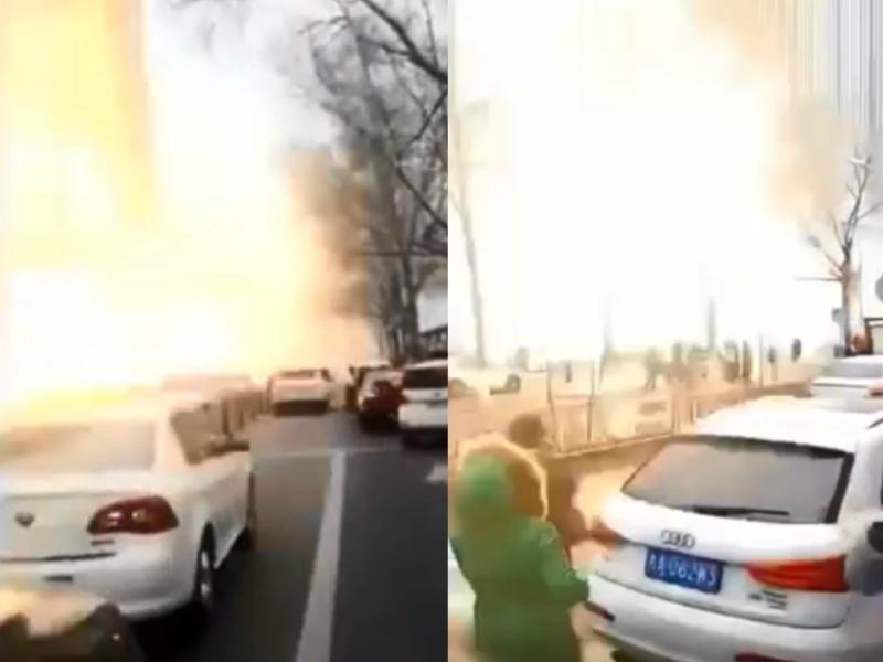 吉林省長春發生爆炸。網上圖片