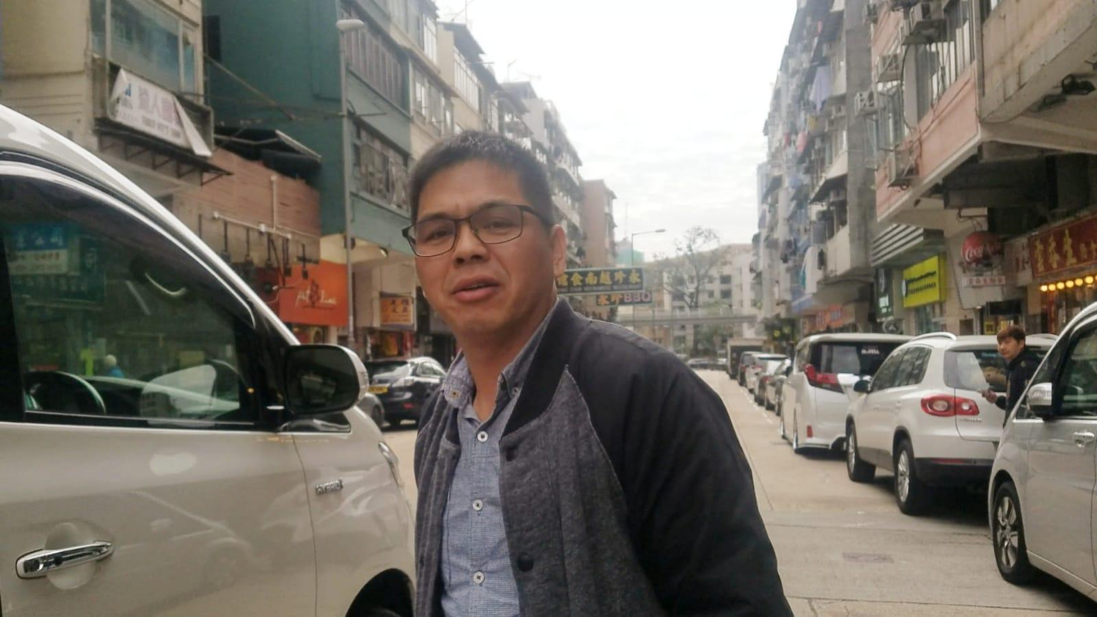 七人車司機朱先生。