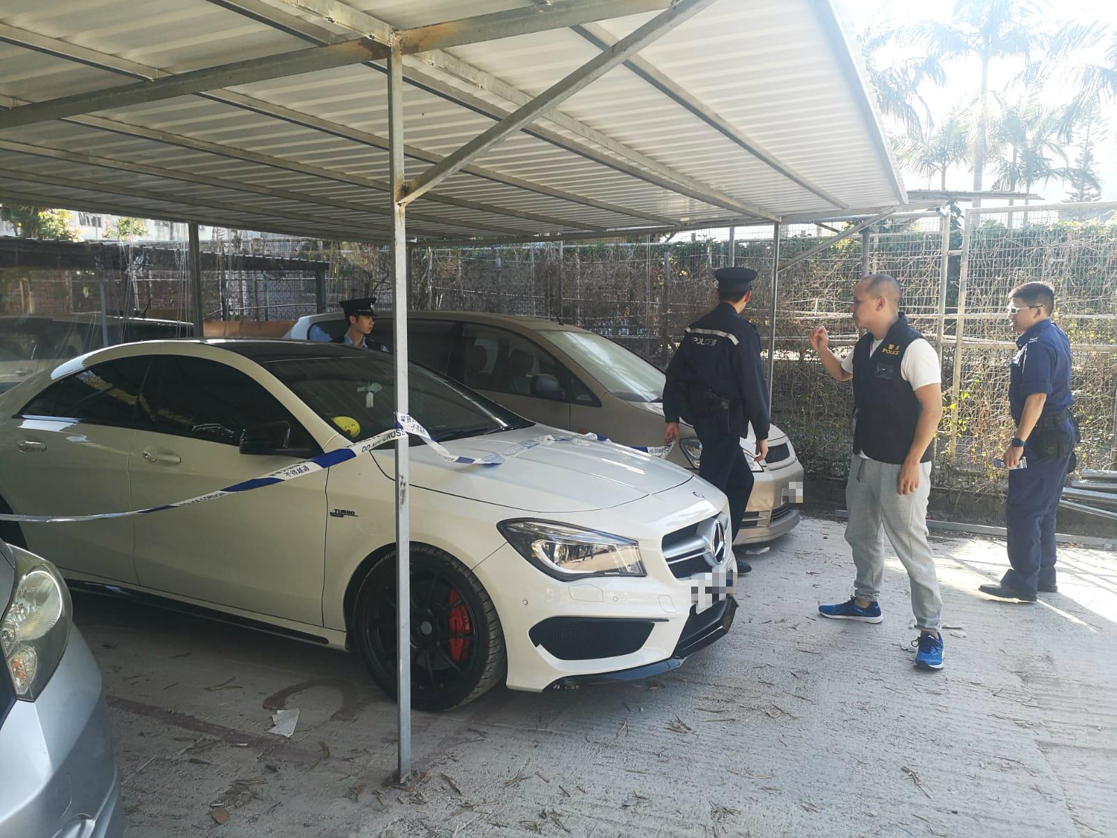 警方搜查涉事車輛