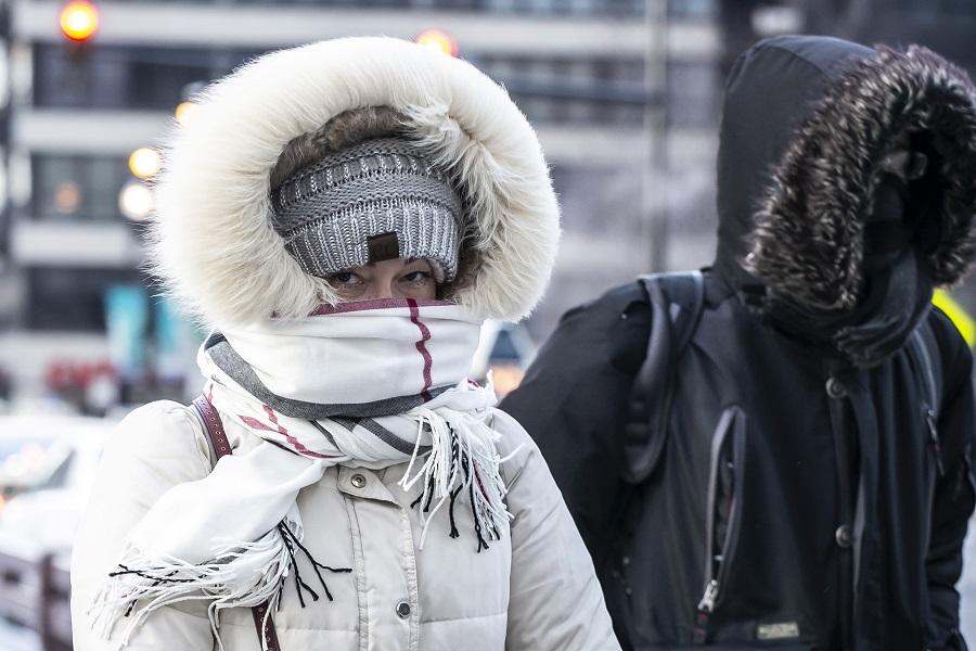 芝加哥等多個地區的氣溫降至攝氏零下30度以下。美聯社