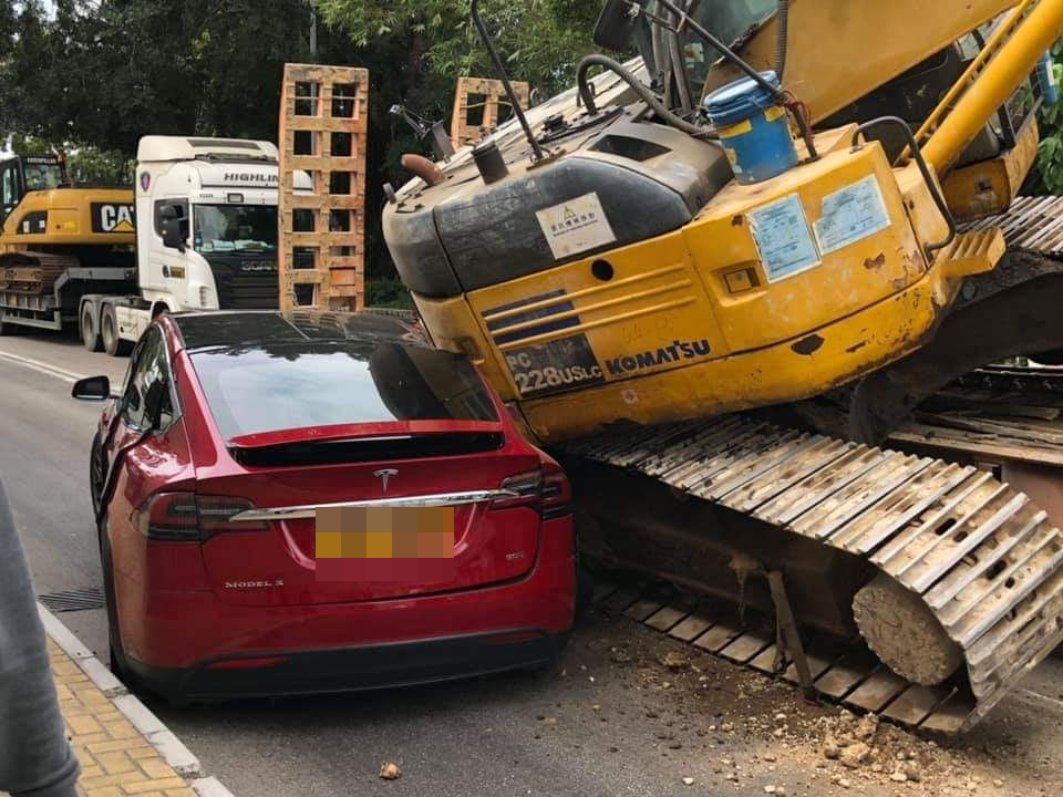 涉事的車輛。  讀者提供