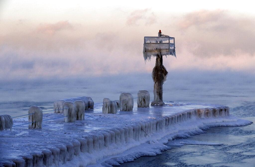 芝加哥迎来30年最冻天气。