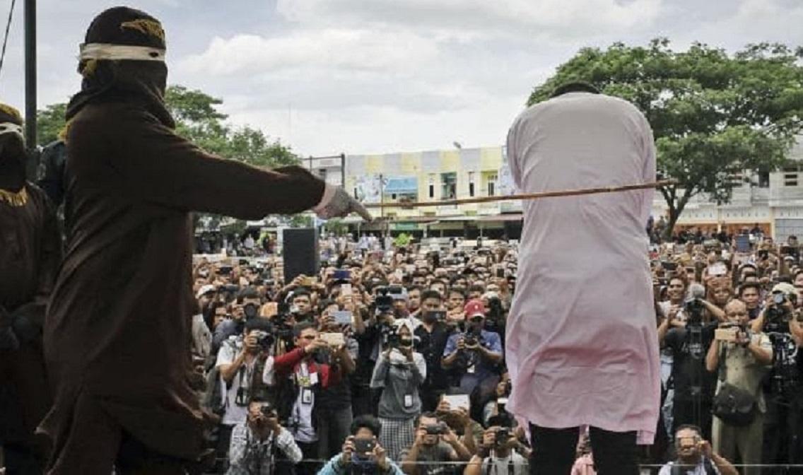 印尼亚齐过往多次实施鞭刑。AP资料图片