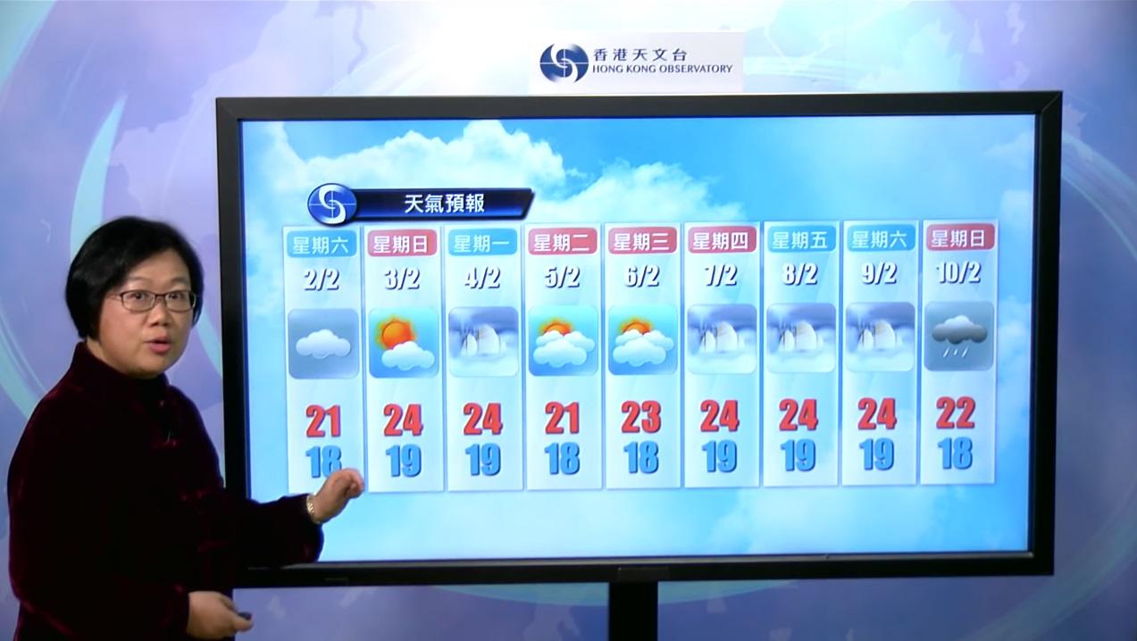 天文台料農曆新年溫暖潮濕。