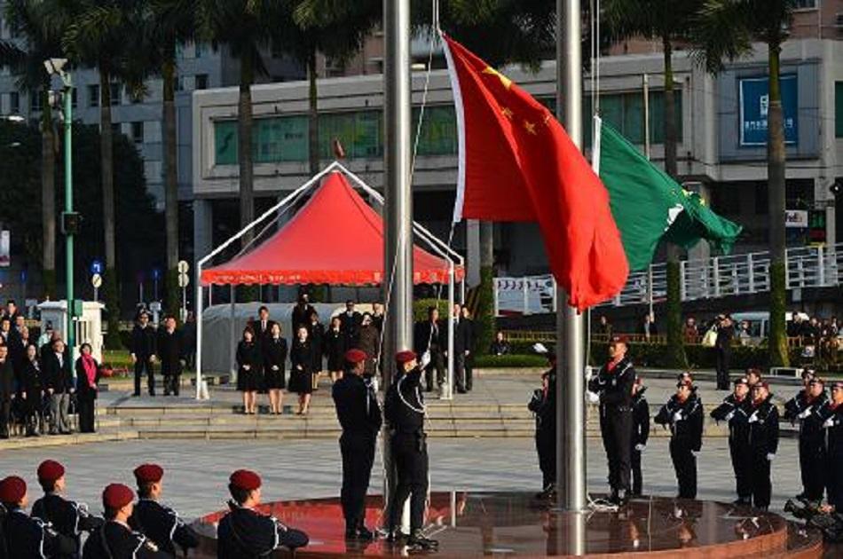 每年國慶日、特區成立紀念日屬於奏唱國歌的重大慶典和節日。新華社圖片