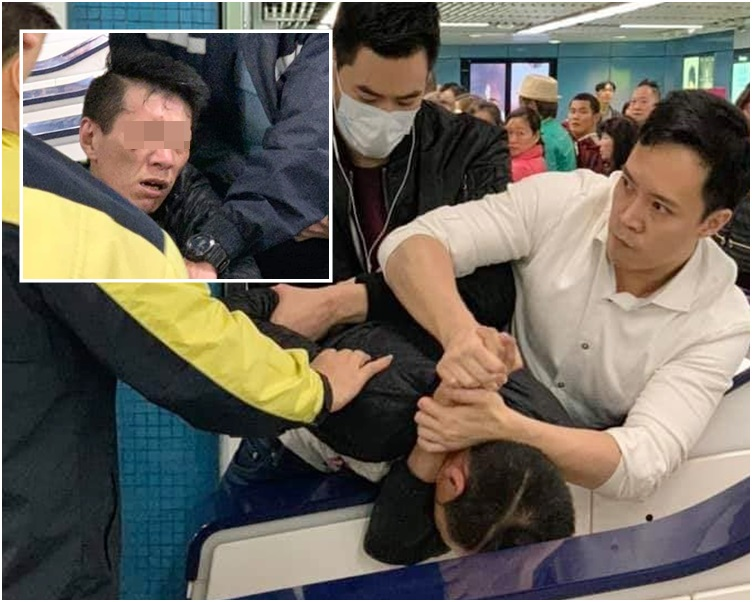 小圖是被捕男子。fb群組「巴打絲打 Facebook Club」Anthony Wong圖片